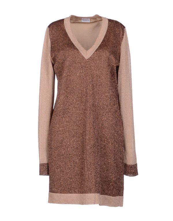 棕色 PHILOSOPHY DI A. F. 短款连衣裙