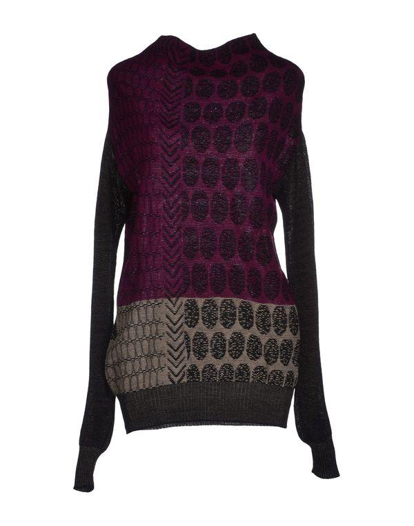 浅紫色 PIANURASTUDIO 圆领针织衫