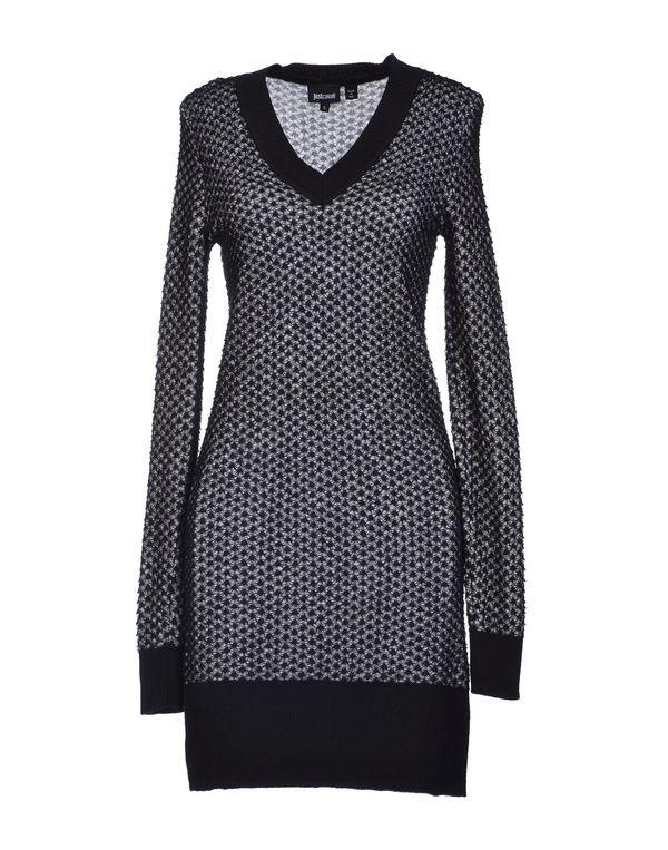 黑色 JUST CAVALLI 短款连衣裙