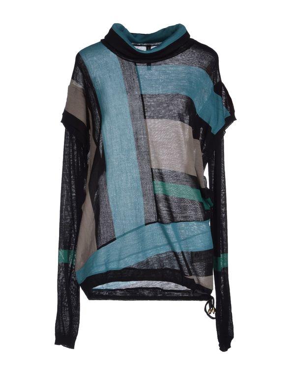 蓝绿色 PIANURASTUDIO 圆领针织衫