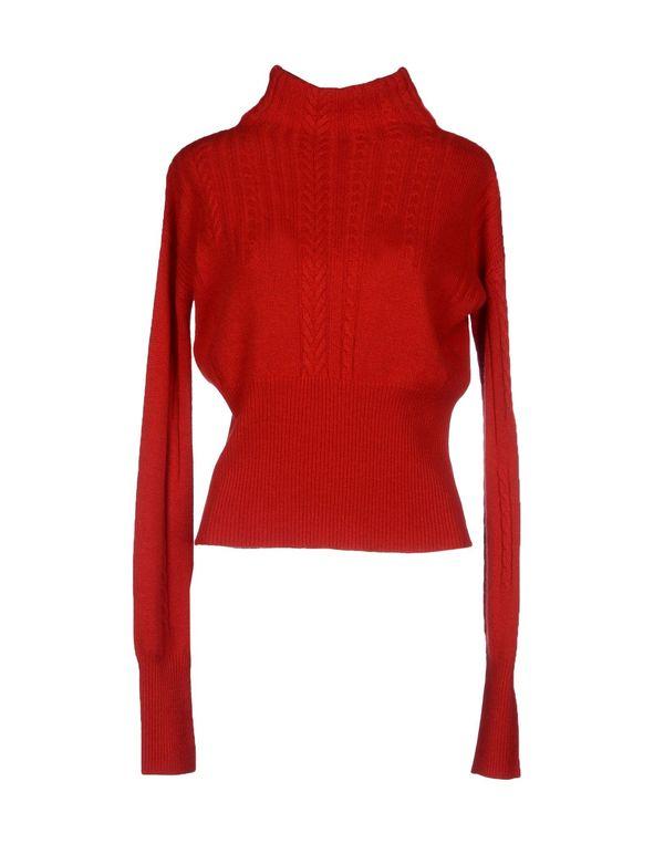 红色 HIGH 圆领针织衫
