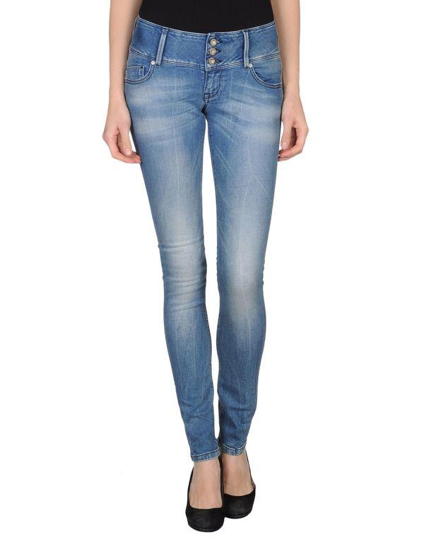 蓝色 ONLY 牛仔裤