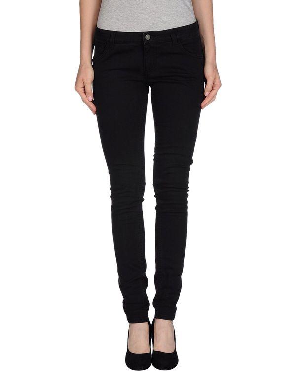 黑色 GOLD CASE 牛仔裤