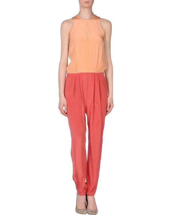 玫红色 TIBI 连身长裤