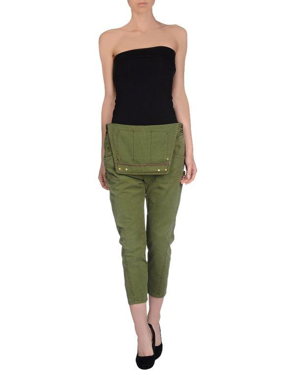 军绿色 SIVIGLIA 七分裤