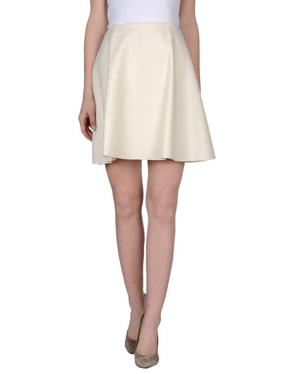 象牙白 MSGM 及膝半裙