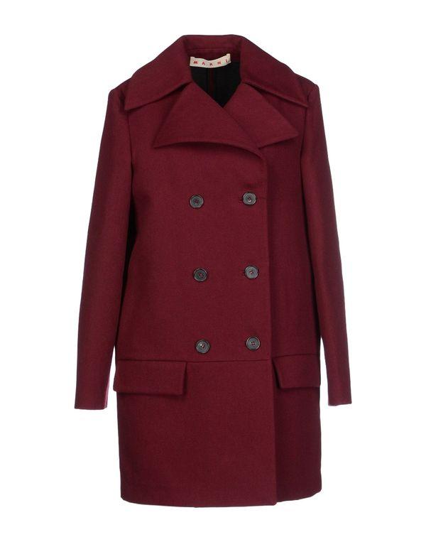 波尔多红 MARNI 大衣
