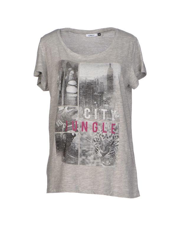 淡灰色 ONLY T-shirt