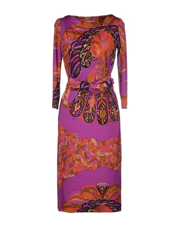 紫色 EMILIO PUCCI 及膝连衣裙