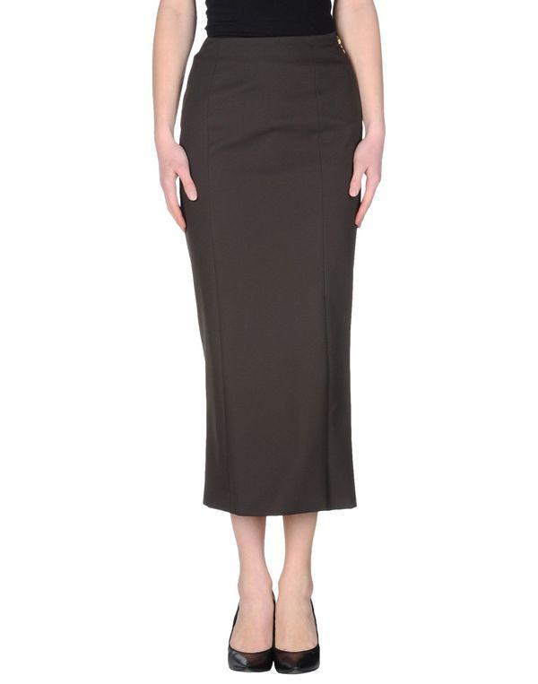 深棕色 ROCHAS 半长裙