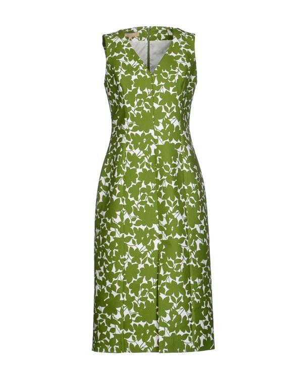 绿色 MICHAEL KORS 及膝连衣裙