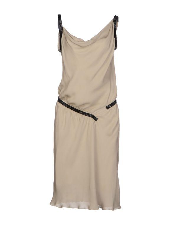 淡灰色 MOSCHINO CHEAPANDCHIC 及膝连衣裙