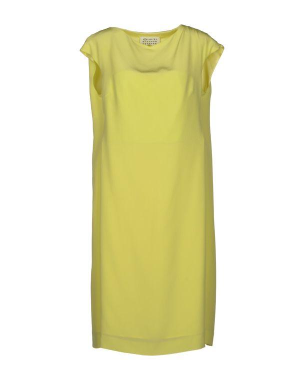 浅黄色 MAISON MARTIN MARGIELA 1 及膝连衣裙