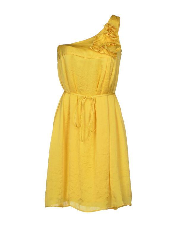 黄色 LIU •JO JEANS 短款连衣裙