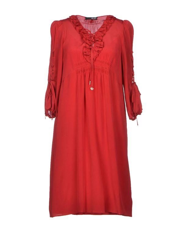 波尔多红 LIU •JO 短款连衣裙