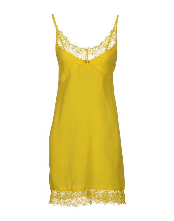 黄色 PINKO BLACK 短款连衣裙