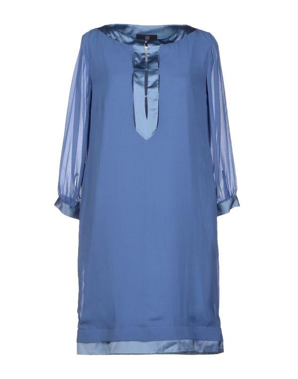 石青色 AQUASCUTUM 短款连衣裙