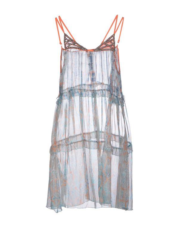 蓝绿色 PINKO SKIN 短款连衣裙