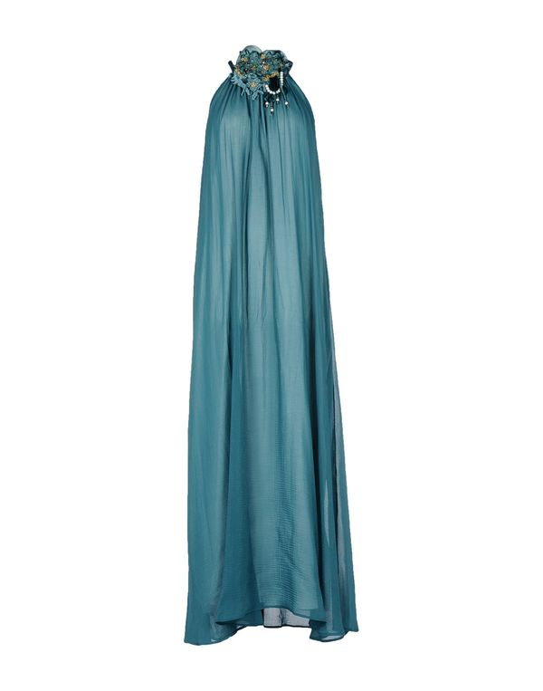 孔雀绿 TUANUA 长款连衣裙