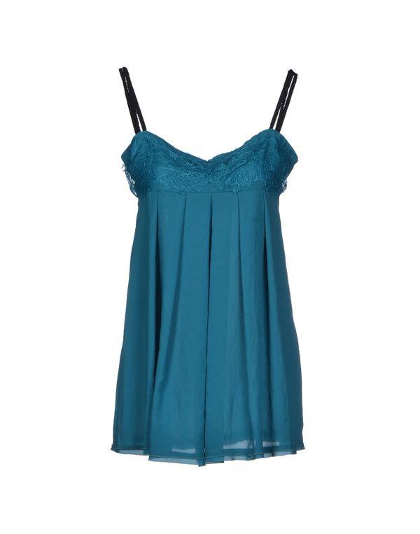孔雀绿 TWIN-SET SIMONA BARBIERI 短款连衣裙