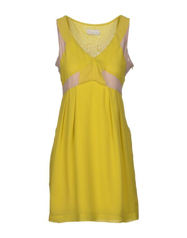 荧光绿 ALYSI 短款连衣裙