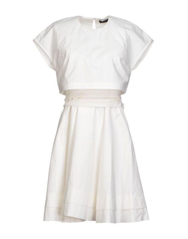 白色 PROENZA SCHOULER 短款连衣裙