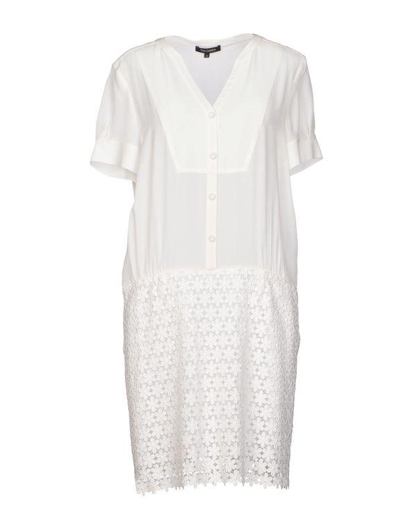 白色 TARA JARMON 短款连衣裙