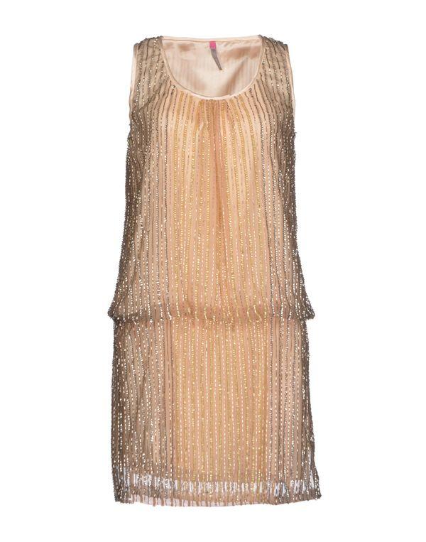 米色 SCEE BY TWIN-SET 短款连衣裙