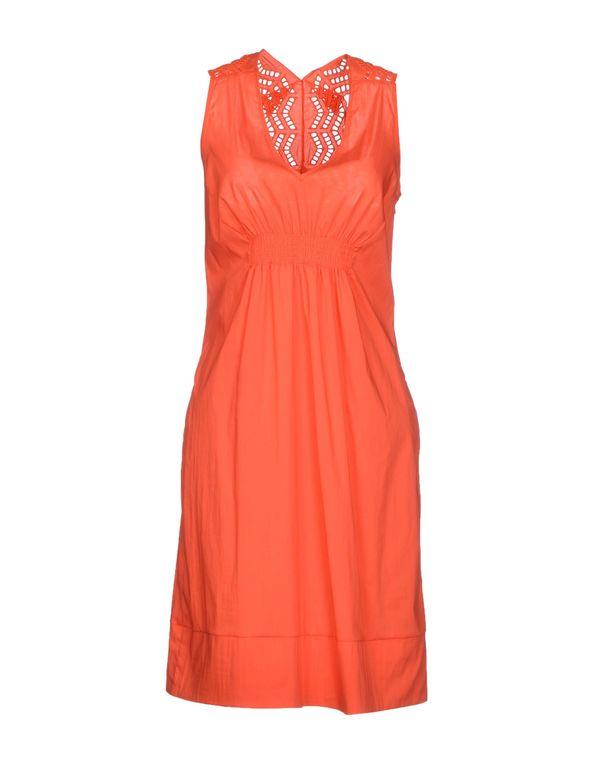 橙色 PF PAOLA FRANI 及膝连衣裙
