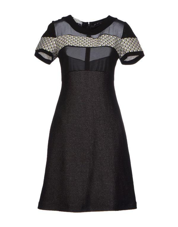 黑色 SCRUPOLI 短款连衣裙