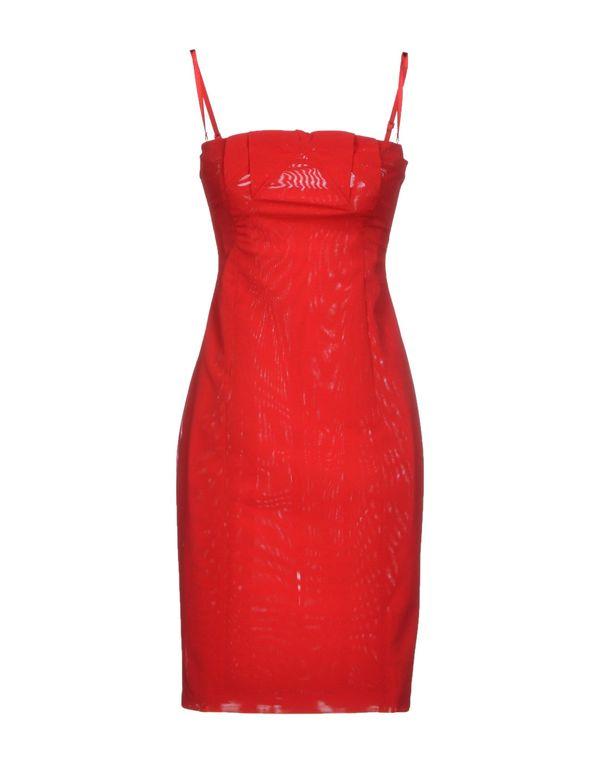 红色 PF PAOLA FRANI 短款连衣裙