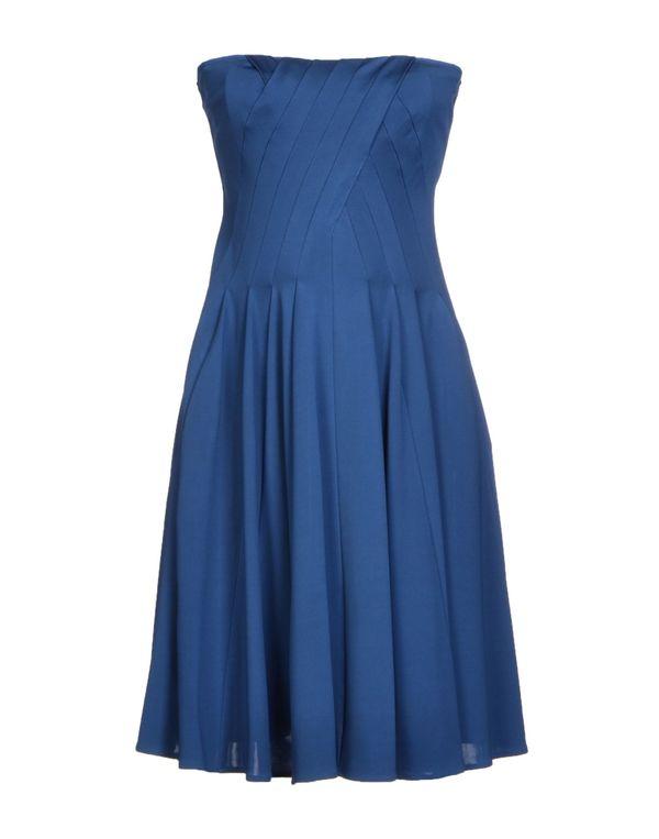 石青色 PAOLA FRANI 短款连衣裙