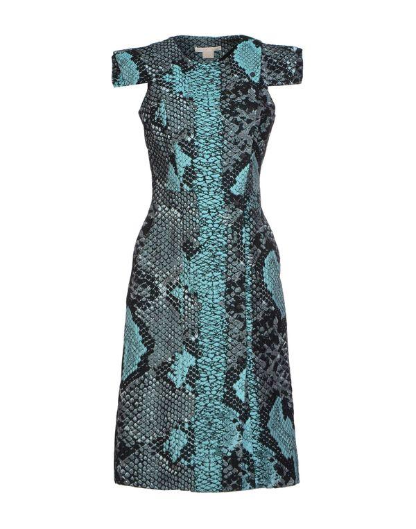 蓝绿色 ANTONIO BERARDI 及膝连衣裙