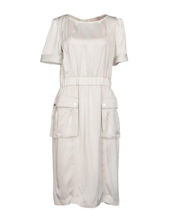 淡灰色 JASON WU 及膝连衣裙