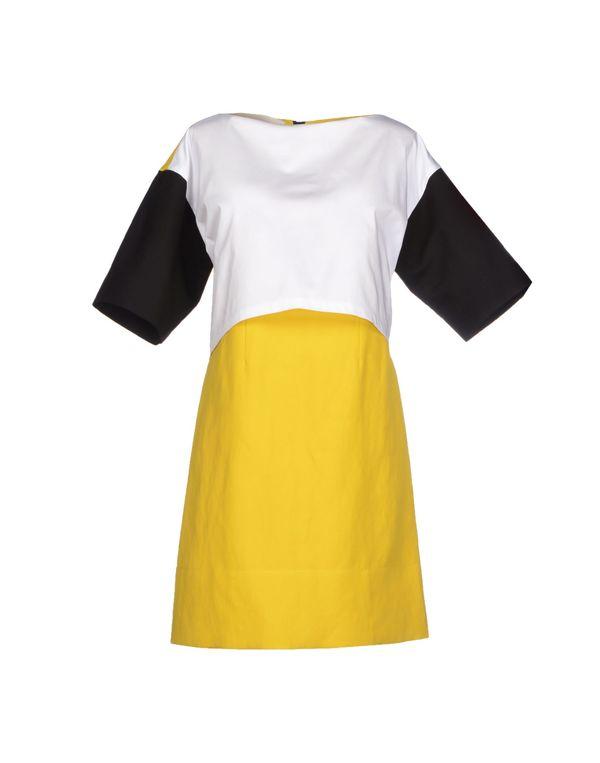 黄色 CEDRIC CHARLIER 短款连衣裙