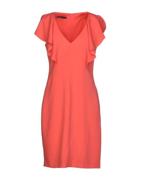 珊瑚红 PIANURASTUDIO 短款连衣裙