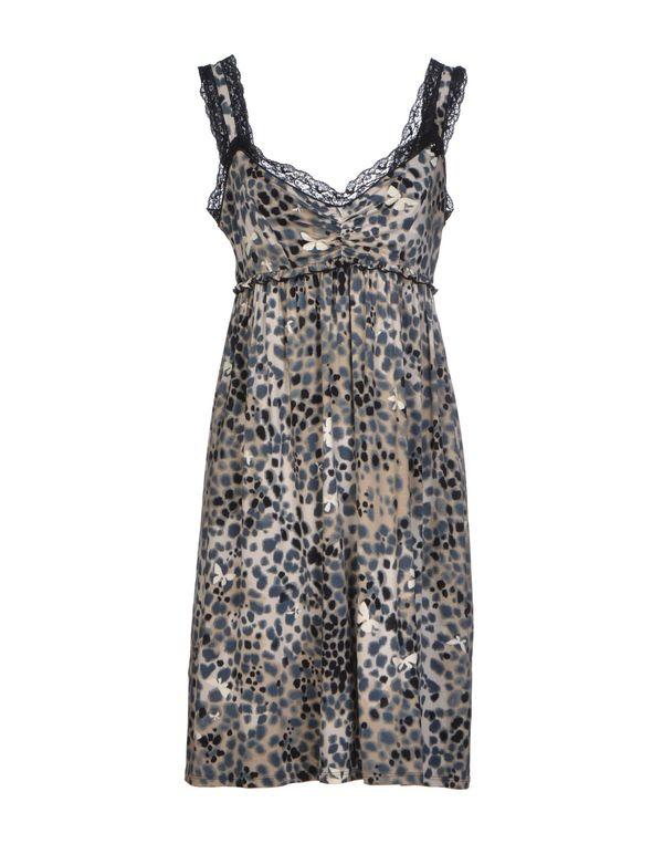 灰色 AJAY 短款连衣裙
