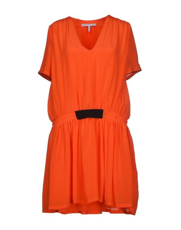 橙色 VICTORIA, VICTORIA BECKHAM 短款连衣裙