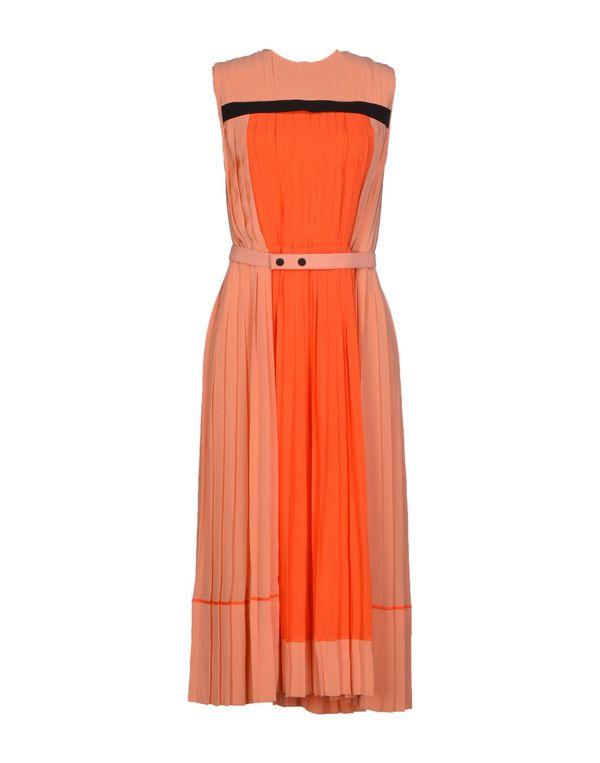 橙色 VICTORIA, VICTORIA BECKHAM 中长款连衣裙