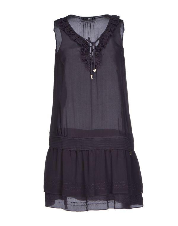 深紫色 LIU •JO 短款连衣裙