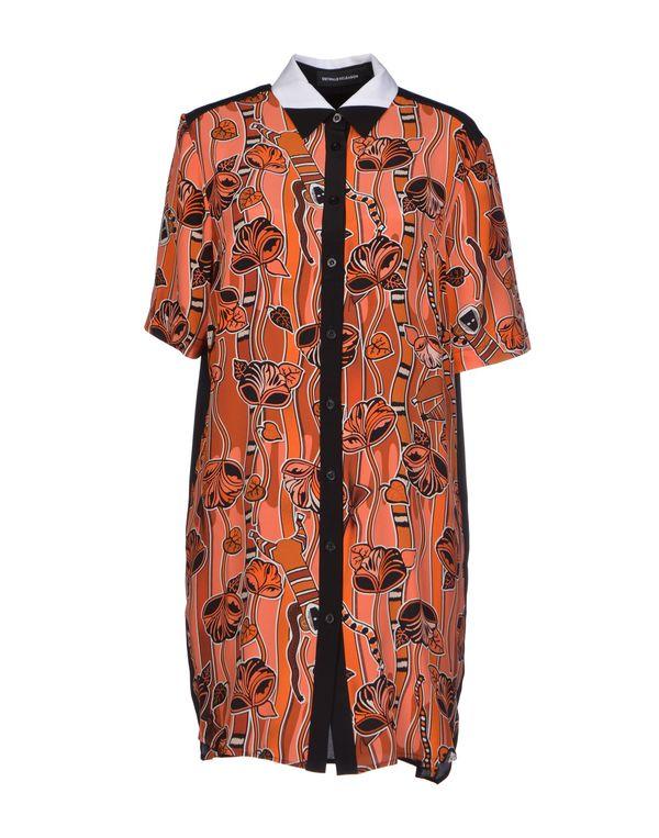 铁锈红 OSTWALD HELGASON 短款连衣裙