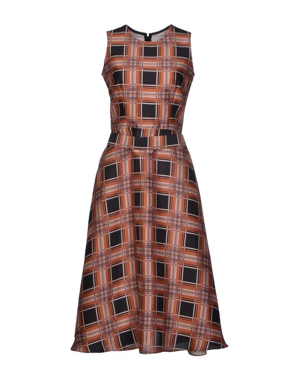 巧克力色 RODARTE 中长款连衣裙
