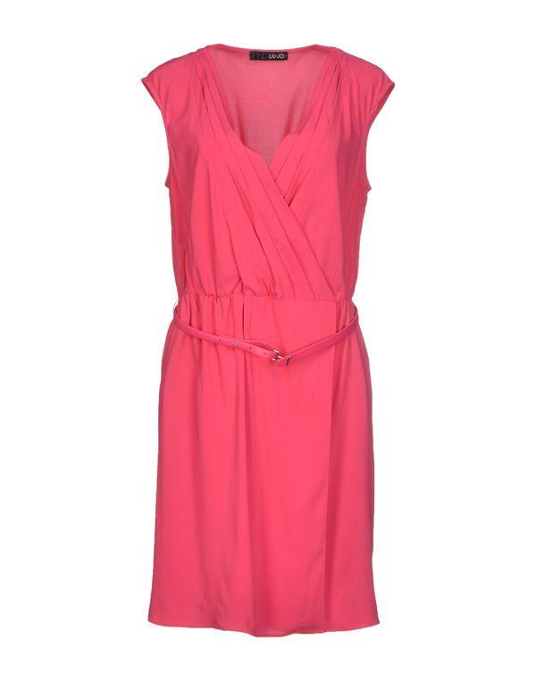 玫红色 LIU •JO 短款连衣裙