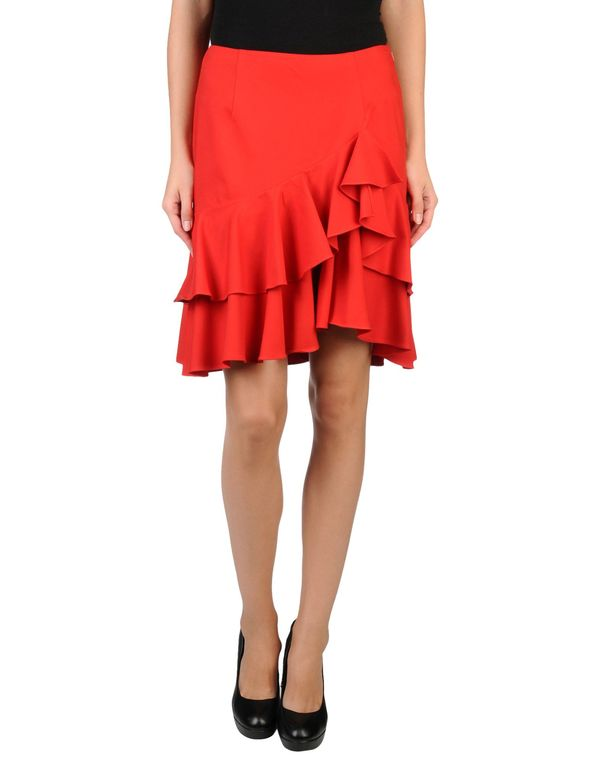 红色 RALPH LAUREN 及膝半裙