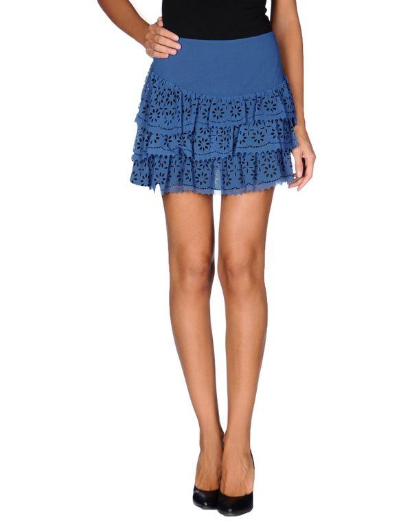 粉蓝色 POEMS 超短裙