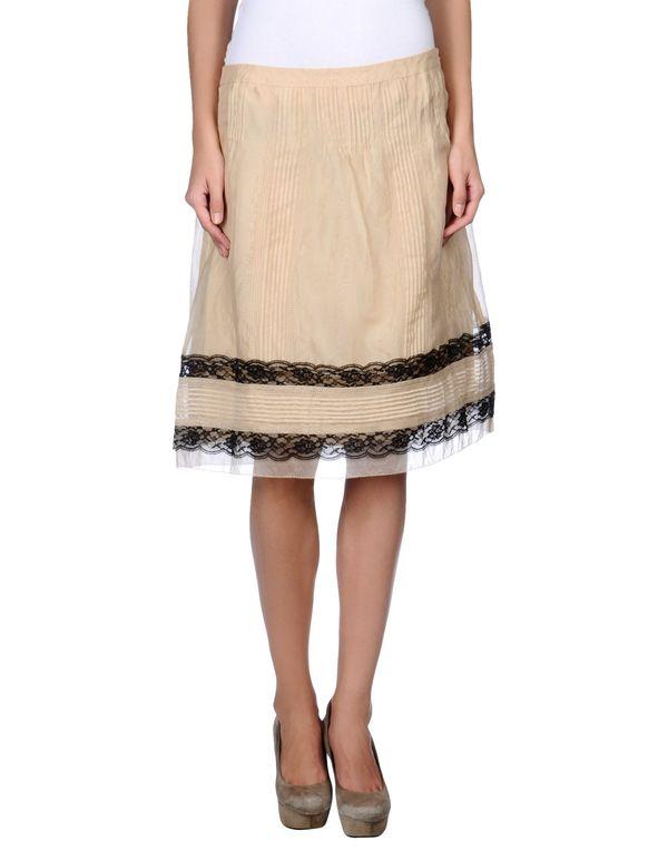 沙色 HOSS INTROPIA 及膝半裙
