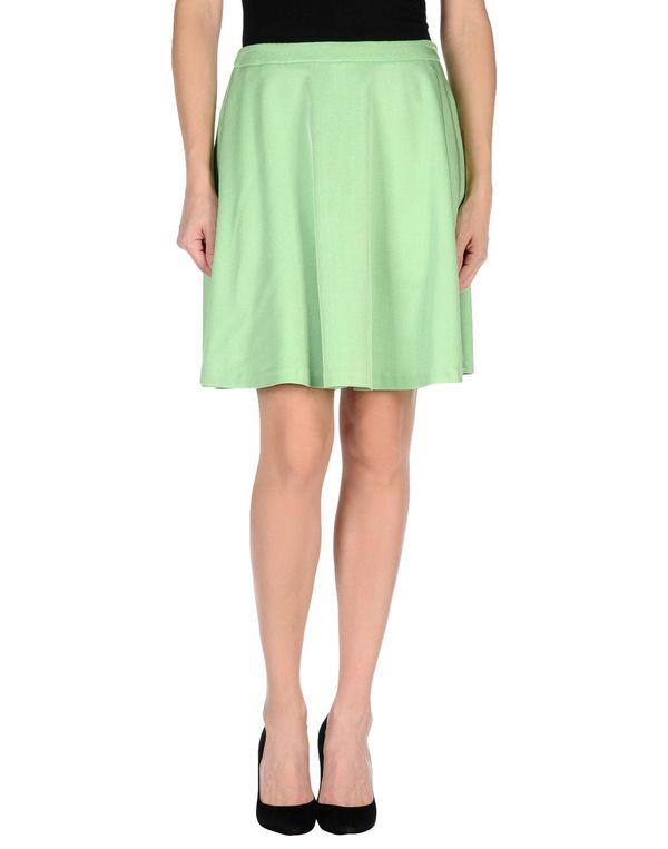 浅绿色 LOVE MOSCHINO 及膝半裙