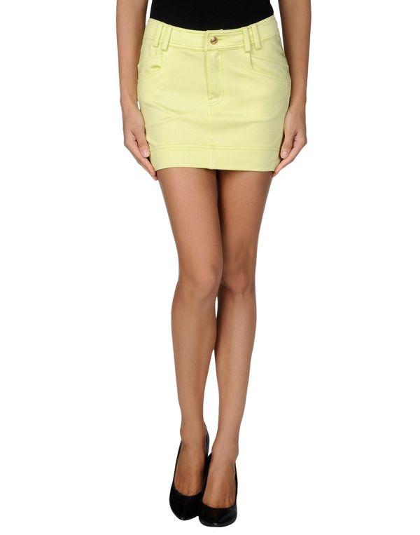荧光绿 JUST CAVALLI 超短裙