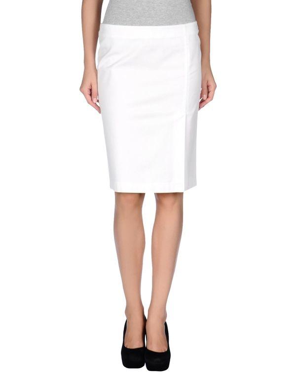 白色 ARMANI JEANS 及膝半裙