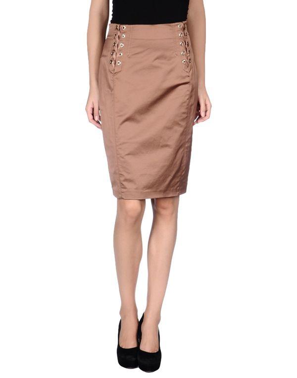 棕色 PINKO BLACK 及膝半裙